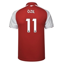 Puma Arsenal 'OZIL 11' Home '17-'18 Replica Soccer Jersey (Red/White)