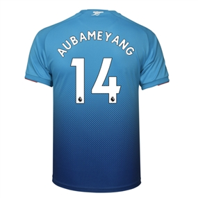 Puma Arsenal 'AUBAMEYANG 14' Away '17-'18 Replica Soccer Jersey (Blue)