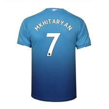 Puma Arsenal 'MKHITARYAN 7' Away '17-'18 Replica Soccer Jersey (Blue)