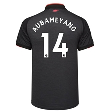 Puma Arsenal 'AUBAMEYANG 14' Third '17-'18 Replica Soccer Jersey (Dark Heather Gray/Puma Black)