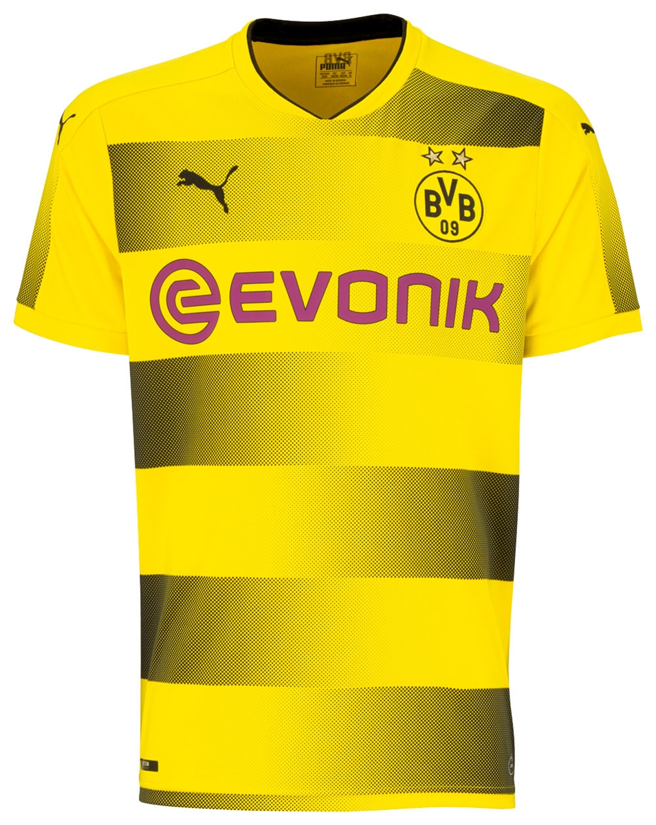 hot sale online 9f03c 23b8d Puma Borussia Dortmund 'PULISIC 22' '17-'18 Home Soccer Jersey (Cyber  Yellow/Black)