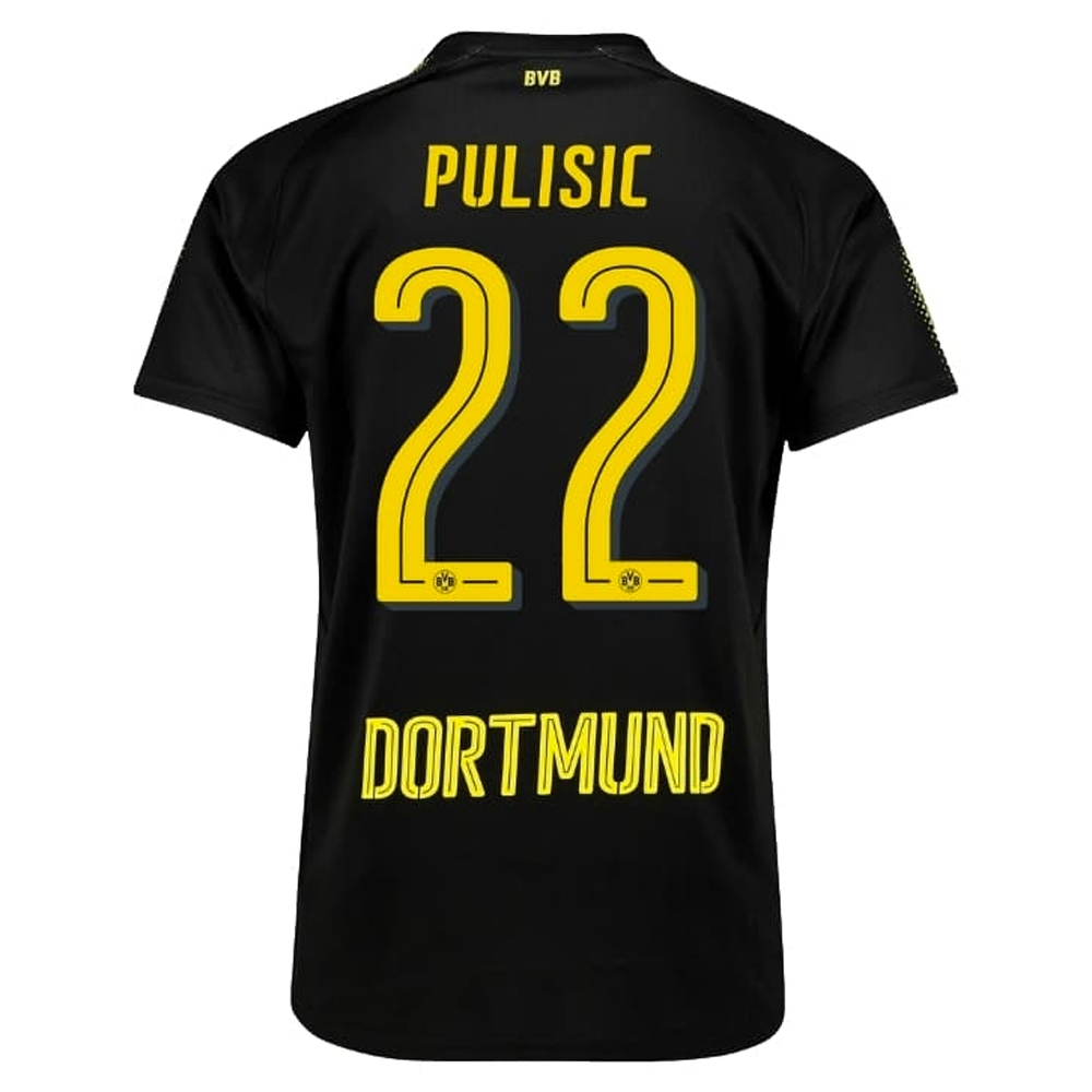 sports shoes 0921c 31c40 Puma Borussia Dortmund' PULISIC 22' '17-'18 Away Soccer Jersey (Puma  Black/Cyber Yellow)