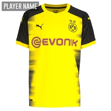 Puma Borussia Dortmund '17-'18 Champions League Replica Jersey (Cyber Yellow/Black)