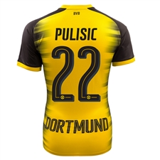 Puma Borussia Dortmund 'PULISIC 22' '17-'18 Champions League Replica Jersey (Cyber Yellow/Black)