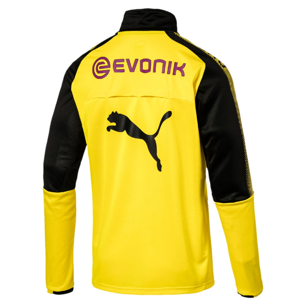54e502526 Puma Borussia Dortmund 1 4 Zip Training Top (Cyber Yellow Black ...