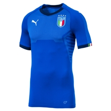 Puma Italy Authentic evoKNIT Home Jersey '17-'18 (Blue)