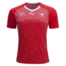 Puma Switzerland Home Jersey '17-'18 (Red/White)
