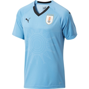Puma Uruguay Home Jersey '18-'19 (Silver Lake Blue/Puma Black)