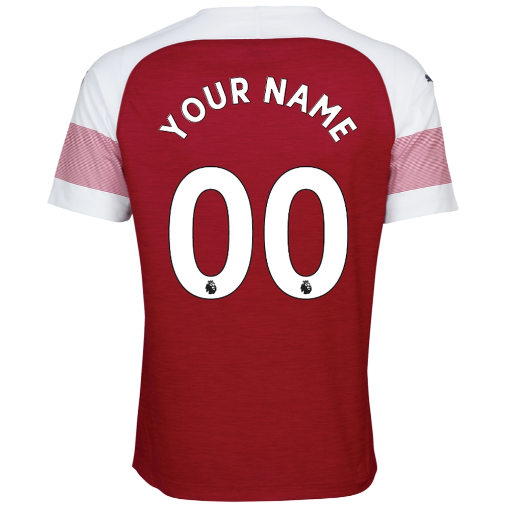 e5a05234487 Puma Arsenal  CUSTOM  Home Authentic Jersey  18- 19 (Chili Pepper ...