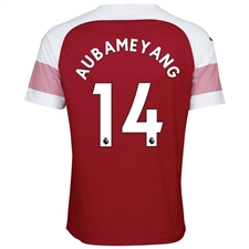 Puma Arsenal 'AUBAMEYANG 14' Home Authentic Jersey '18-'19 (Chili Pepper/White)