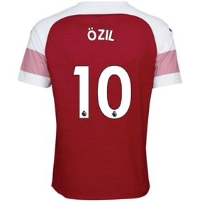 Puma Arsenal 'OZIL 10' Home Authentic Jersey '18-'19 (Chili Pepper/White)