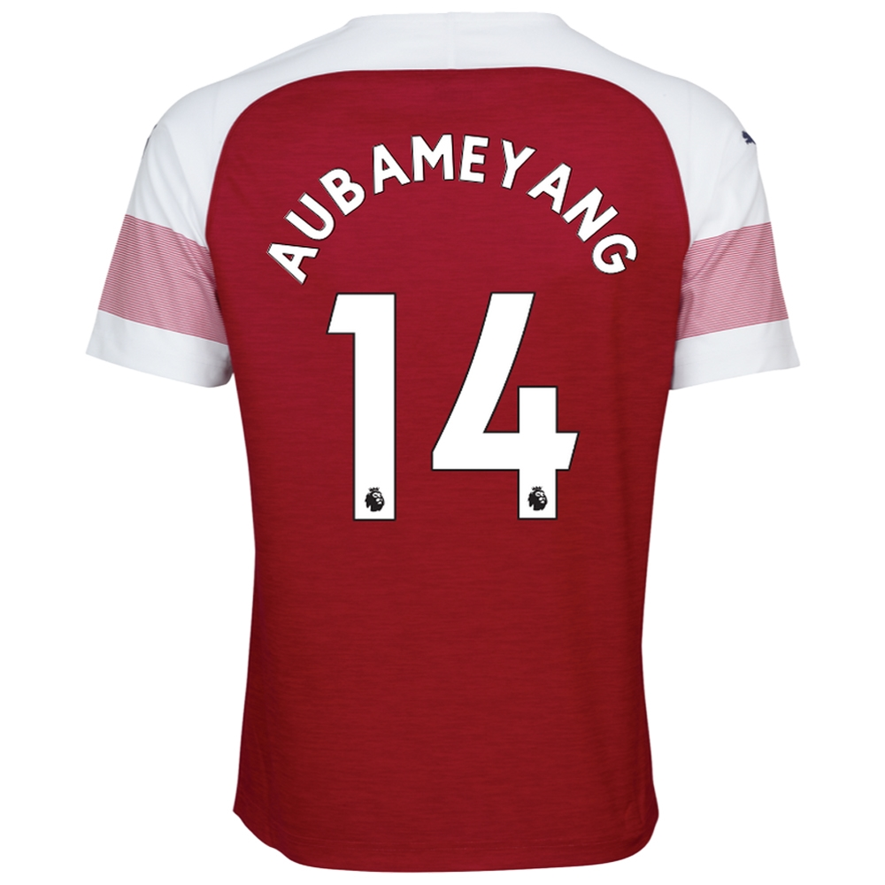 21debaa7f Puma Arsenal  AUBAMEYANG 14  Home Jersey  18- 19 (Chili Pepper White ...