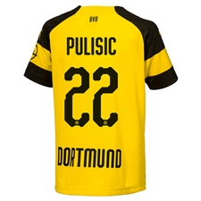 Puma Borussia Dortmund 'PULISIC 22' Home Jersey '18-'19 (Cyber Yellow/Black)
