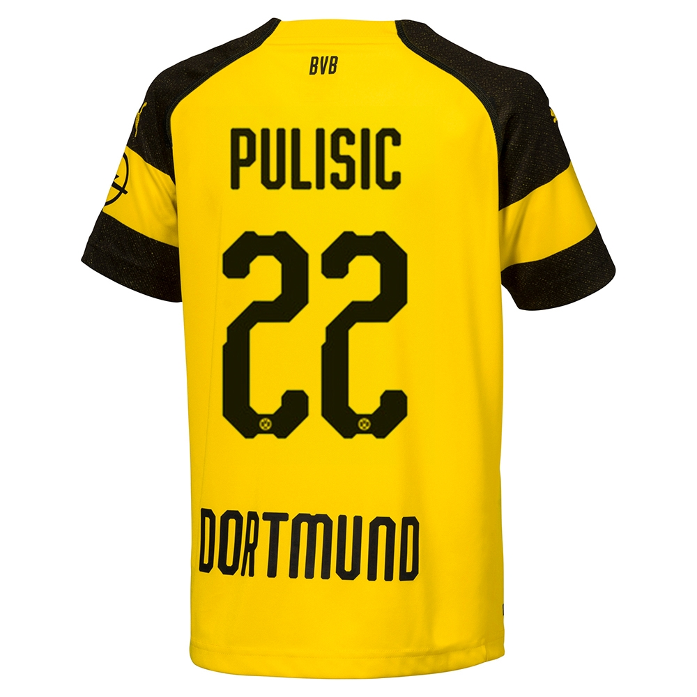 factory authentic fed55 fc7a8 Puma Borussia Dortmund 'PULISIC 22' Home Jersey '18-'19 (Cyber Yellow/Black)