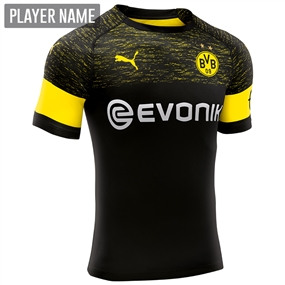 Puma Borussia Dortmund Away Jersey '18-'19 (Black/Cyber Yellow)