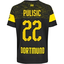 Puma Borussia Dortmund 'PULISIC 22' Away Jersey '18-'19 (Black/Cyber Yellow)