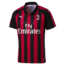 Puma AC Milan Home Replica Jersey '18-'19 (Tango Red/Puma Black)