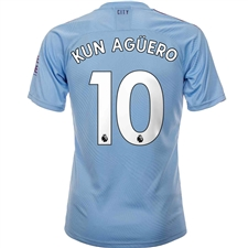 Puma Manchester City 'KUN AGUERO 10' Home Authentic Jersey '19-'20 (Team Light Blue/Tillandsia Purple)