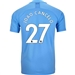 Puma Manchester City 'JOAO CANCELO 27' Home Authentic Jersey '19-'20 (Team Light Blue/Tillandsia Purple)