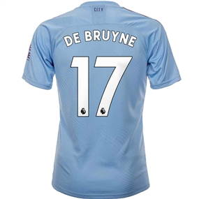 Puma Manchester City 'DE BRUYNE 17' Home Authentic Jersey '19-'20 (Team Light Blue/Tillandsia Purple)