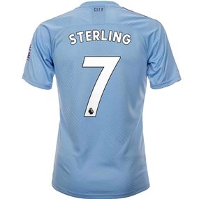 Puma Manchester City 'STERLING 7' Home Authentic Jersey '19-'20 (Team Light Blue/Tillandsia Purple)
