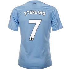Puma Manchester City 'STERLING 7' Home Jersey '19-'20 (Team Light Blue/Tillandsia Purple)