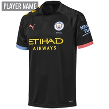 Puma Manchester City Away Jersey '19-'20 (Black/Georgia Peach)
