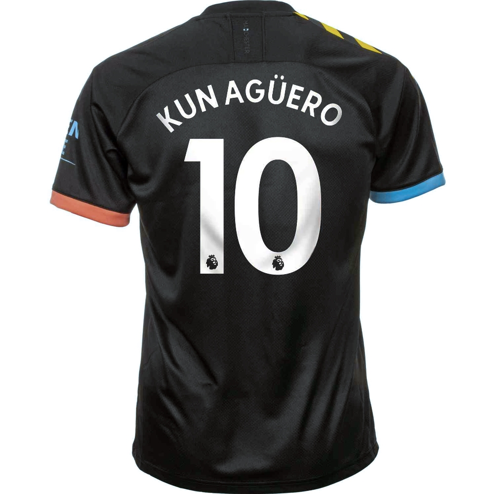 pretty nice d9de0 78625 Puma Manchester City 'KUN AGUERO 10' Away Jersey '19-'20 (Black/Georgia  Peach)
