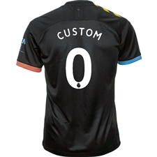 Puma Manchester City 'CUSTOM' Away Jersey '19-'20 (Black/Georgia Peach)