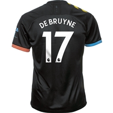 Puma Manchester City 'DE BRUYNE 17' Away Jersey '19-'20 (Black/Georgia Peach)