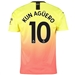 Puma Manchester City 'KUN AGUERO 10' Third Jersey '19-'20 (Fizzy Yellow/Georgia Peach)