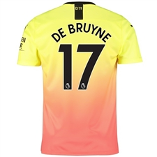 Puma Manchester City 'DE BRUYNE 17' Third Jersey '19-'20 (Fizzy Yellow/Georgia Peach)
