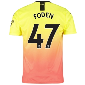 Puma Manchester City 'FODEN 47' Third Jersey '19-'20 (Fizzy Yellow/Georgia Peach)