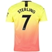Puma Manchester City 'STERLING 7' Third Jersey '19-'20 (Fizzy Yellow/Georgia Peach)