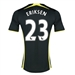 Under Armour Tottenham 'ERIKSEN 23' Away 2014-2015 Replica Soccer Jersey (Black/Yellow)