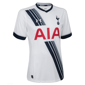 Under Armour Tottenham Home 2015-2016 Replica Soccer Jersey (White)