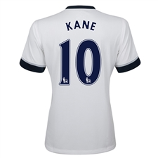 Under Armour Tottenham 'KANE 10' Home 2015-2016 Replica Soccer Jersey (White)