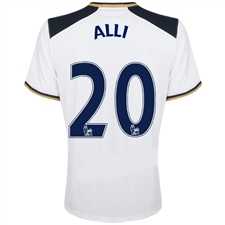 Under Armour Tottenham 'ALLI 20' Home '16-'17 Replica Soccer Jersey (White)