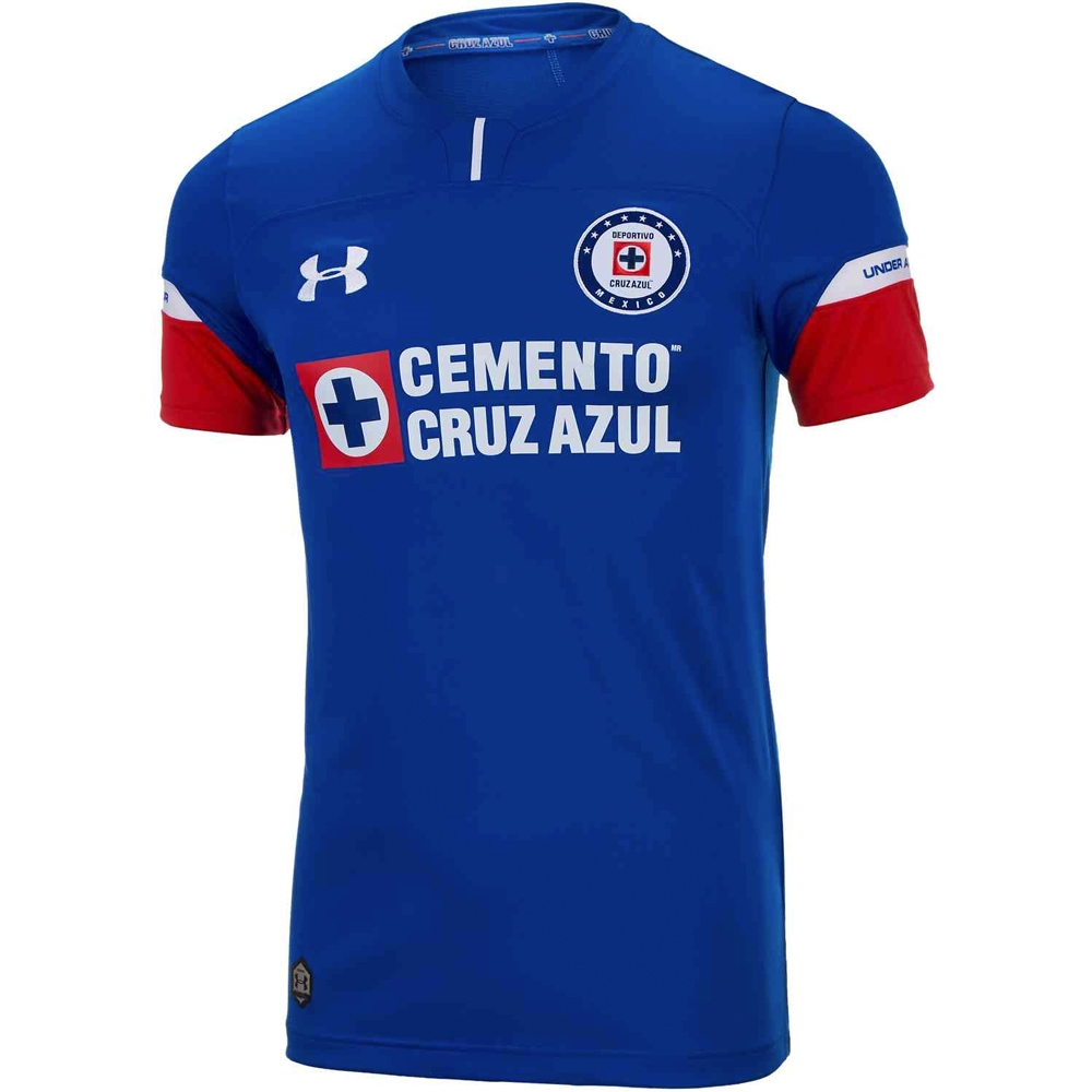 e448b7065a6 Under Armour Cruz Azul Home Jersey '18-'19 (Navy Blue/Red)