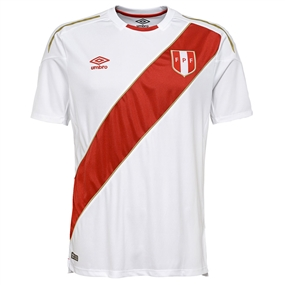 Umbro Peru Home Jersey '18-'19 (White/Red)