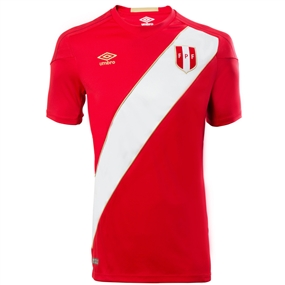 Umbro Peru Away Jersey '18-'19 (Red/White)