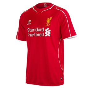 Warrior Liverpool Home '14-'15 Replica Soccer Jersey (Red)