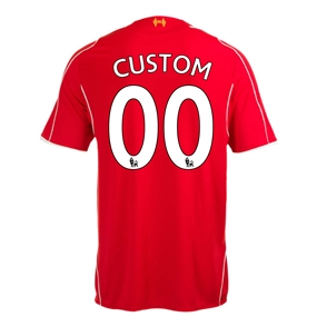 Warrior Liverpool 'CUSTOM' Home '14-'15 Replica Soccer Jersey (Red)