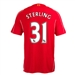 Warrior Liverpool 'STERLING 31' Home '14-'15 Replica Soccer Jersey (Red)