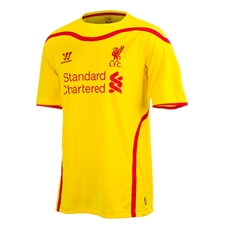 Warrior Liverpool Away '14-'15 Replica Soccer Jersey (Cyber Yellow/High Risk Red)