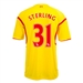 Warrior Liverpool 'STERLING 31' Away '14-'15 Replica Soccer Jersey (Cyber Yellow/High Risk Red)
