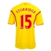 Warrior Liverpool 'STURRIDGE 15' Away '14-'15 Replica Soccer Jersey (Cyber Yellow/High Risk Red)