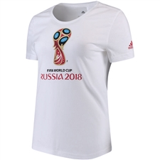 Adidas Women's FIFA World Cup Russia 2018 T-Shirt (White)