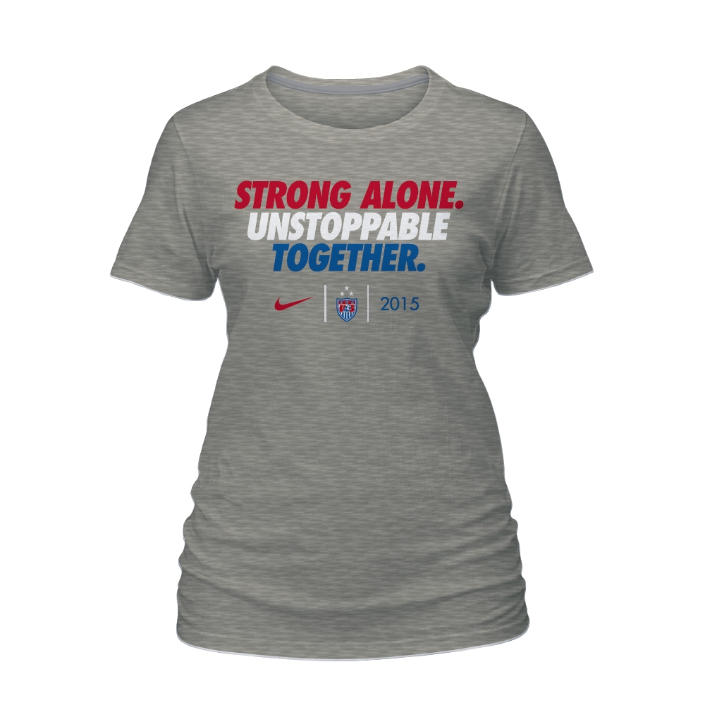 51ed180c1  29.99 Add to Cart for Price - Nike USA USWNT World Cup Slogan Women s  T-shirt (Grey)
