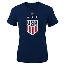 Nike USA 4 Star Crest Women's T-Shirt (Collegiate Navy)